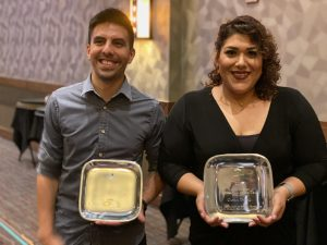 Ian Montano and Carla Dozal with Energy Awards